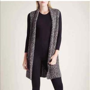 Kensie Black &White Marled Sweater Vest size XS